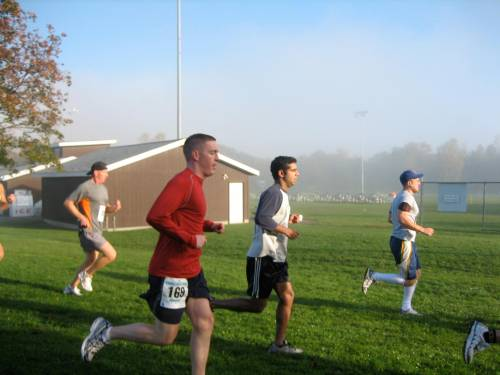 Hubby running the half marathon